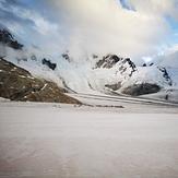 Circo glaciar hacia el calluqueo, Monte San Lorenzo