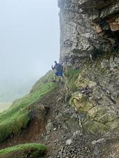 Priest hole cave, Dove Crag photo