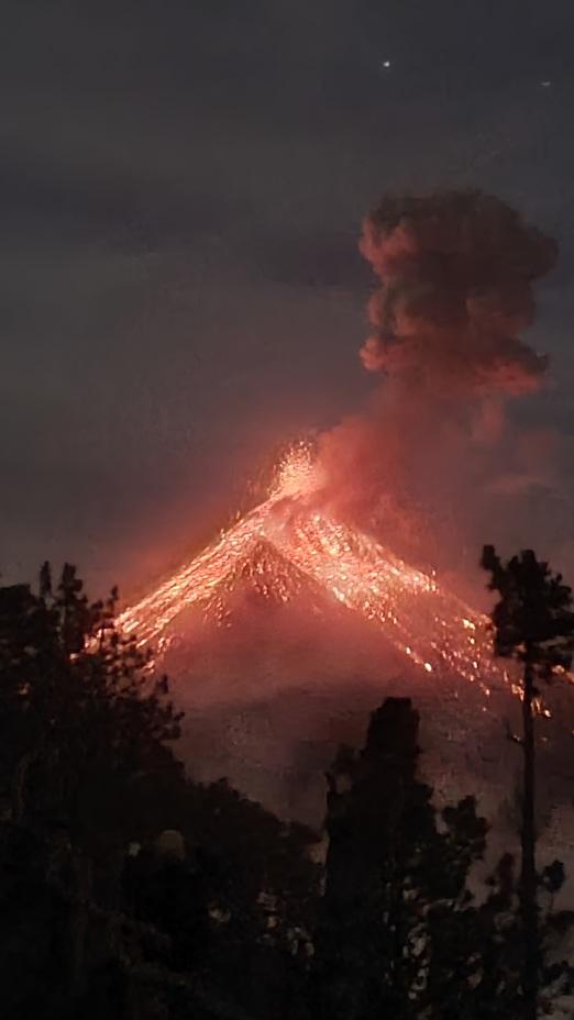Fuego pictured from Acatenango, Acatenango or Fuego