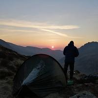 Y garn at sunrise, Y Garn (Glyderau) photo