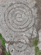 Spiral motif, Tibradden Mountain photo