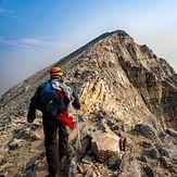 Final ridge to Mount Temple summit Lake Morraine ,Alberta.