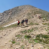 Elbert north trail just almost at 13,000 - slippery section ahead, Mount Elbert