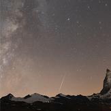 another perseid meteor at Matterhorn