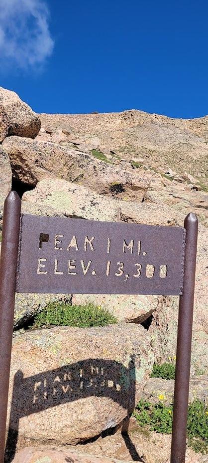 Barr Trail 1 mile marker, Pikes Peak