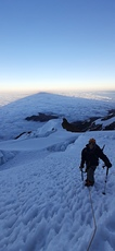 the shadow of the giant, Illimani photo
