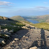 View of Wast water, Scafell Pike