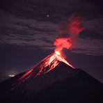 Christmas Star, spotted every 2000 years., Acatenango or Fuego