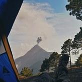 View from Acatenango to Fuego, Acatenango or Fuego