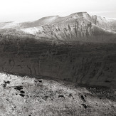 Light snow on Pen y Fan