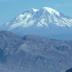 Mt.Rainier from the crater of the Mt.St.Helens, Mount Saint Helens