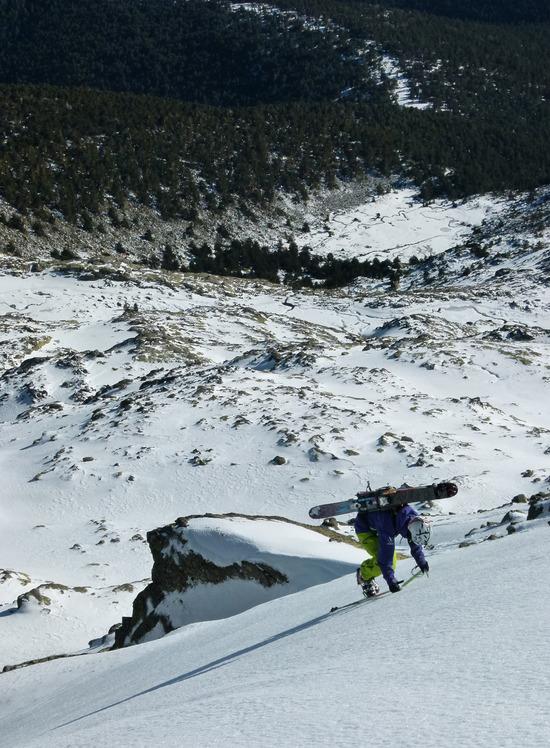 Up Ruau line in Peñalara, Mount Peñalara