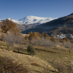 Mulhacen from the south valley in fall