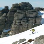 Skiing through Tablas de la Ley (Urbión), Pico Urbión