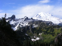 Mount Rainier from Barrier Peak photo