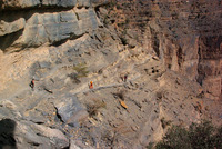 Trekking Route W6, Jebel Shams. Balcony Trek. photo