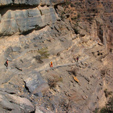 Trekking Route W6, Jebel Shams. Balcony Trek.