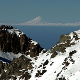 View of Damavand from the peak of Karkas