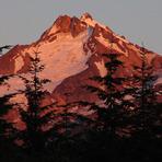 Evening Alpinglow, Mount Jefferson (Oregon)