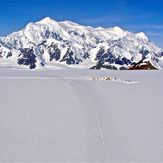 Mount Logan in back with Icefield Discovery camp