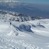 View from mountain Ossa, Mount Olympus