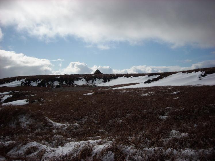 Summit cairn 2,597 feet., Comeragh Mountains