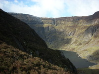 Coumshingaun coum looking onto Comeragh plateau., Comeragh Mountains photo