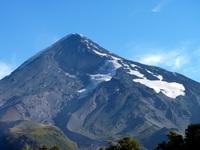 cara norte del  volcán lanín.  ruta normal, Volcan Lanin photo