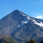 cara norte del  volcán lanín.  ruta normal, Volcan Lanin