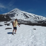 el lanin en primavera, Volcan Lanin