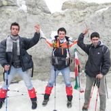 peak of damavand with Three Musketeers, دماوند