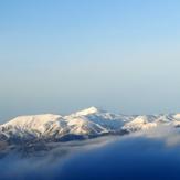 Panachaikos's peaks from Mt Erymanthos 1500 m