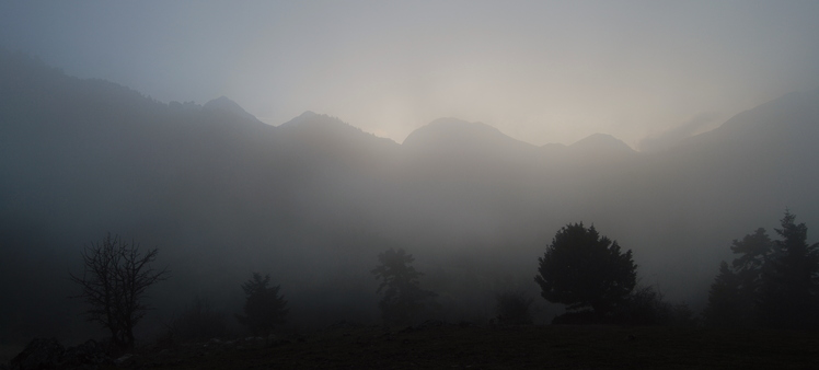 fog on the hill 1250m, Erymanthos