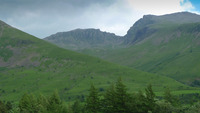 Scafell Pike viewed from the road photo