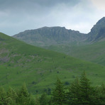 Scafell Pike viewed from the road