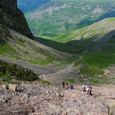 Scree slope below Scafell, Scafell Pike