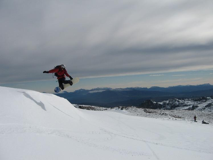 Snowboarding on Matroosberg