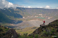 down to the crater base of Tambora photo