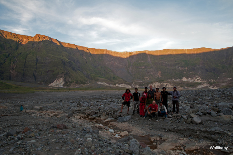 minutes before sunset in the crater, Tambora