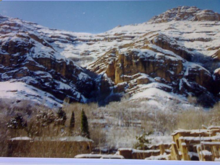 Ghalat mountains in winter - Ghalat village