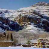 Ghalat mountains in winter - Ghalat village