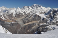 Everest and Lhotse from Mera Peak, Mount Everest photo