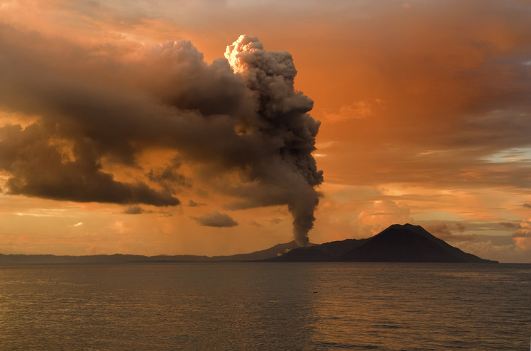 Rabaul caldera weather