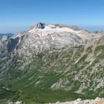 View of Mount Fisht from Mount Oshten