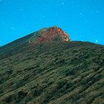 the peak after sunset, Mount Rinjani