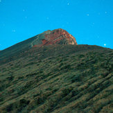 the peak after sunset, Mount Rinjani
