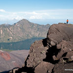 """gunung baru"", the new volcanoe within the old caldera of Rinjani, Mount Rinjani"
