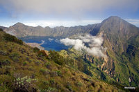 the crater lake, Mount Rinjani photo