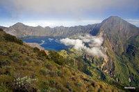 the crater lake, Mount Rinjani photo