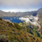 the crater lake, Mount Rinjani